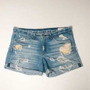 rag & bone Shorts - Rag & Bone Rebel Distressed Boyfriend Shorts